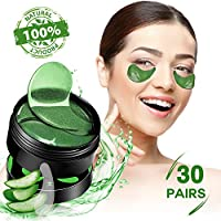 SHVYOG Under Eye Patches - 30 Pairs | Aloe Vera Hydrating Eye Mask Patches | Anti-Aging Under Eye Gel Pads | Under Eye Mask with Hyaluronic Acid for Puffy Eyes, Dark Circles, Wrinkles, Fine Lines