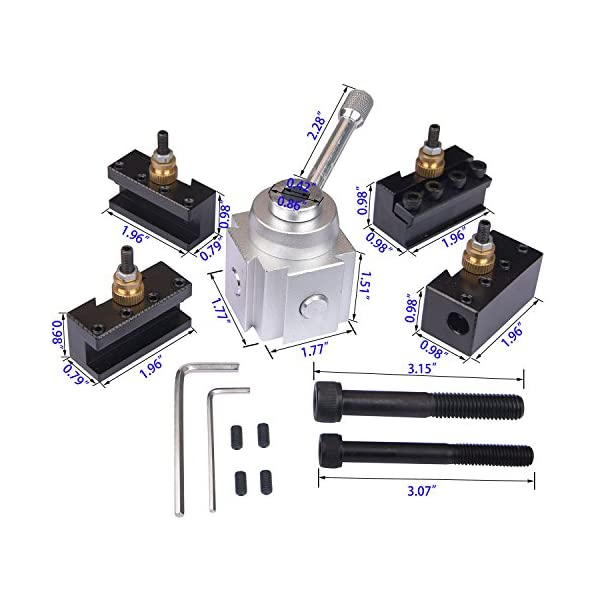 8mm Shank Factory Mini Parting Tool Cut off Holder with 6Pcs HSS Blades for Mini Lathes