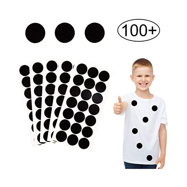 Die Cut; DIY Projects Black Adhesive Felt Circles; 1 Wide or 1.5 Wide; Various Package Sizes; Wholesale 48 Count 1, Black