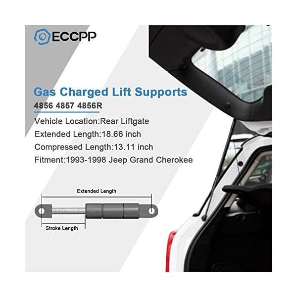 ECCPP Lift Supports Rear Liftgate Hatch Tailgate Struts Gas Springs Shocks for 1993-1998 Jeep Grand Cherokee Compatible with 4856 Strut Set of 2