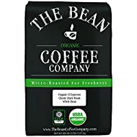 The Bean Coffee Company Organic Il Espresso, Classic Dark Roast, Whole Bean, 5-Pound Bag