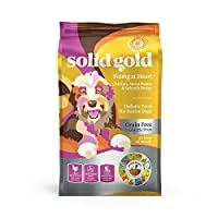 Solid Gold - Young at Heart with Real Chicken - Grain-Free - Antioxidant Rich - Dry Dog Food Seniors with Sensitive Stomachs 24lbs