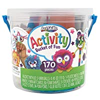 ArtSkills Activity Bucket, Arts and Crafts Supplies, Assorted Colors and Shapes, 170 Count