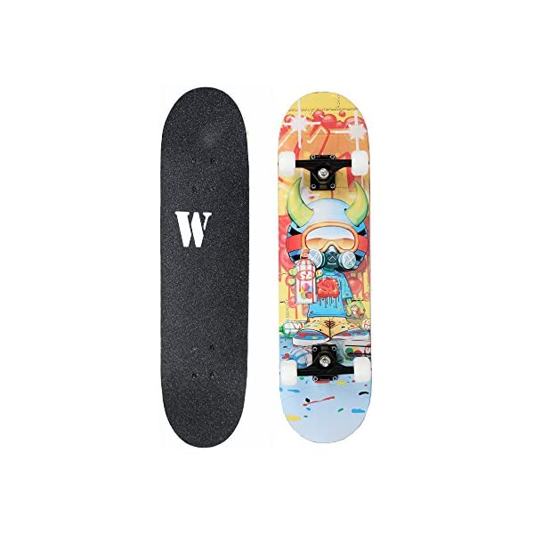 X Free Skateboards 31 Inches Complete Skateboards for Beginners