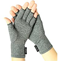 Vive Arthritis Gloves - Men, Women Rheumatoid Compression Hand Glove for Osteoarthritis- Arthritic Joint Pain Relief - Carpal Tunnel Wrist Support - Open Finger, Fingerless Thumb for Computer Typing
