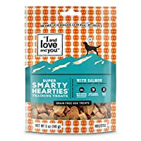 I and love and you Hearties Brain and Hip Support Grain Free Dog Treats, Salmon, 5-Ounce, Pack of 1