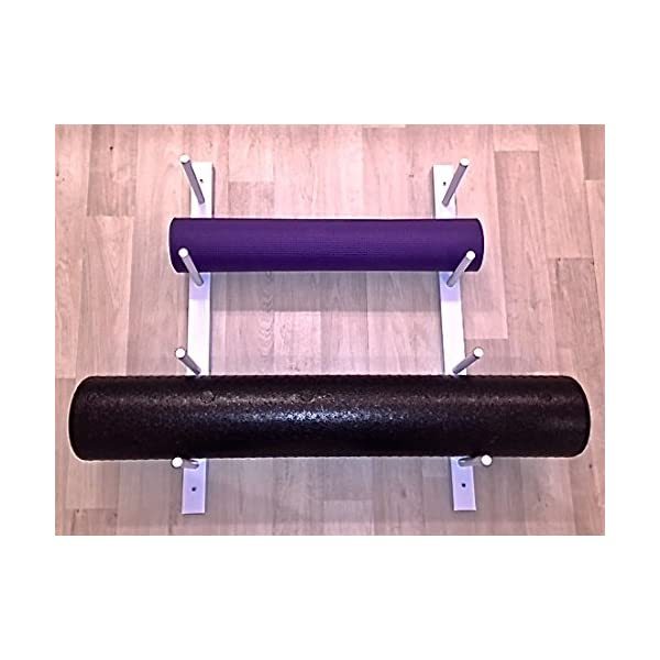 8 12 Etc Hardware Included Foam Roller Yoga Mat Storage Rack Modular Sold By The Pairs And No Of Pairs You Get Determines No Of Mats Rollers You Hold Holds 4 Easy