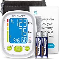 GreaterGoods Wrist Blood Pressure Monitor, (New 2020 Update) FDA Cleared, Supplementary Travel Monitor, Large Cuff, Batteries and Warranty Included (Large)