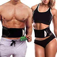 GuidreyTex Waist Trimmer for Women and Men, Sport Waist Trainer Belt, Belly Fat Slimming Stomach Band, Sweat & Weight Loss, Low Back and Lumbar Support. with a Healthy Far-Infrared Card (L)