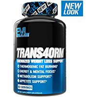 Evlution Nutrition Trans4orm Thermogenic Energizing Fat Burner Supplement, Increase Weight Loss, Energy and Intense Focus (60 Servings) (Packaging May Vary)