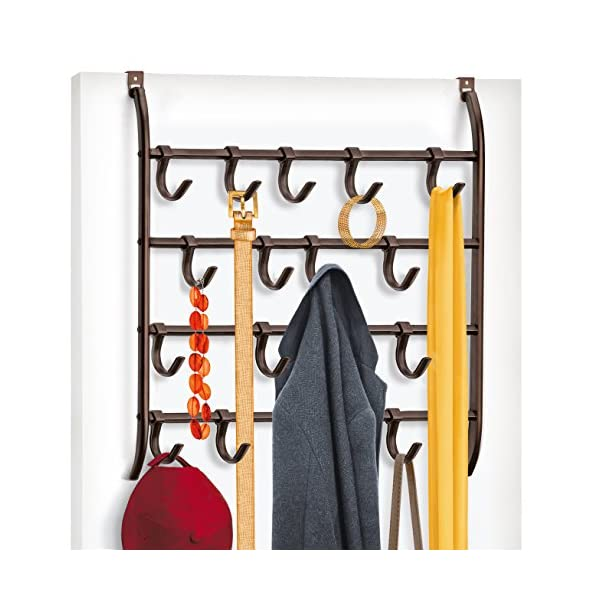 Pro Chef Kitchen Tools Over Door Hook Bath Towel Hooks Office Cubicle Purse Hanger for Hand Bags Coats No Drill Towel Rack for Bathroom Storage Over the Door Valet Hook Solid Behind Door Jewelry Holder Clothing Organizer