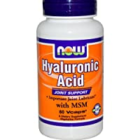 Now Foods Hyaluronic Acid with MSM (60 Vegetarian Capsules)