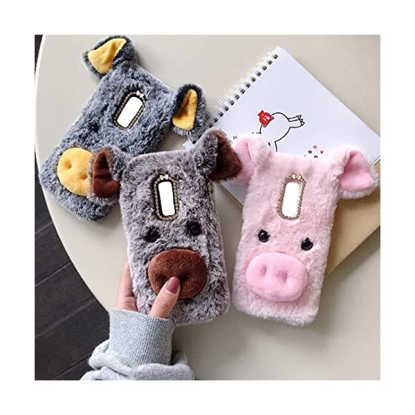 Handmade Fluffy Villi Dog Baby Wool Cute Ball Nose Winter Warm Soft Cover TAITOU Beautiful Full Wool Light Slim Case For BrownBerry Passport Green BrownBerry Passport Silver Edition Art Case