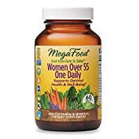 MegaFood, Women Over 55 One Daily, Supports Optimal Health and Wellbeing, Multivitamin and Mineral Dietary Supplement, Vegetarian, 60 tablets (60 servings)
