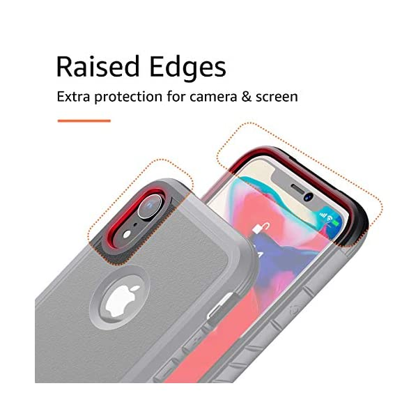 Shockproof Protective Anti Scratch Cover Case Designed for iPhone XR Aodh Compatible with iPhone XR Cases