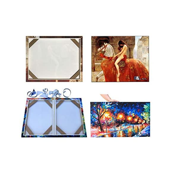 Framed Picture Accessories Customized Wooden Art Frames for Paintings /& Canvases Easy to Build Canvas Stretching System DIY Solid Wood Canvas Frame Kit (16 x24) for Oil Painting /& Wall Art