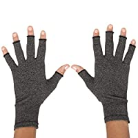 ZenToes Arthritis Compression Gloves - Pain Relief for Rheumatoid & Osteoarthritis Treatment - Fingerless Gloves for Everyday Wear - 1 Pair (Large)