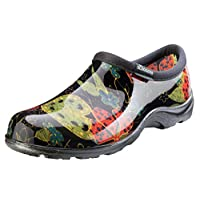 Sloggers  Women's Waterproof  Rain and Garden Shoe with Comfort Insole, Midsummer Black, Size 10,  Style 5102BK10