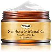 Vitamins Hair Mask Deep Conditioner - Thin to Normal Hair Conditioning Repair Treatment Hydrating Moisturizer Argan Mask for Dry Damaged Hair and Scalp