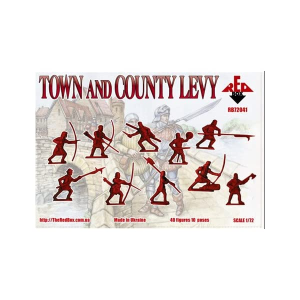 Red Box 1:72 RB72041 Town and county levy war of the roses