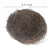 KeFit Co. Ltd Rattan Bird's Nest Easter Rattan Nest for Garden Yard Home Party Wedding Easter Decor(5.9Inch)