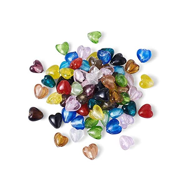 Over 100pcs 6mm~25mm Mix Shapes /& Colors Millefiori Lampwork Glass Beads Tube Oval Great Lot Square Must See. Heart.. Round 100 Gram