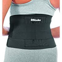 Mueller Adjustable Back Brace, Black, One Size