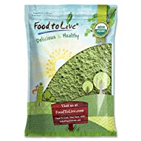 Organic Wheatgrass Powder, 8 Pounds — Non-GMO, Whole-Leaf, Raw, Non-Irradiated, Pure, Vegan Superfood, Bulk, Great for Juice, Rich in Fiber, Chlorophyll, Fatty Acids and Minerals
