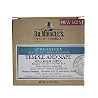 Dr. Miracle's Temple and Nape Gro Balm - For Healthy Hair Growth, Contains Wheat Protein, Aloe, vitamin A, Vitamin D, Strengthens, Promotes Growth, 4 o (Packaging may vary)
