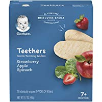 Gerber Teethers Gentle Teething Wafers - Strawberry Apple Spinach, 6 Count
