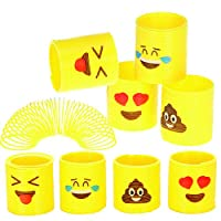 Party Favors 36 Pieces Emoticon Emoji Rubber Rings Party Supplies Prizes Treasure Boxes Stocking Stuffers Easter Baskets Zoombie Novelties