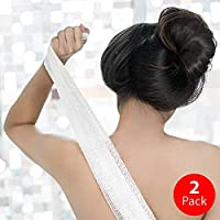 KUMA Bath Washcloth: Wash & Scrub Your Body · Cloth for Bath & Shower · Design & Crafted in Japan · Eco-Friendly & Sustainable [Double Pack: Natural White]