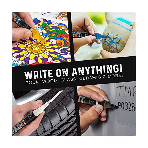 Paint Mark Quick-Dry Paint Pens Ceramic Rock Glass Write On Anything Wood