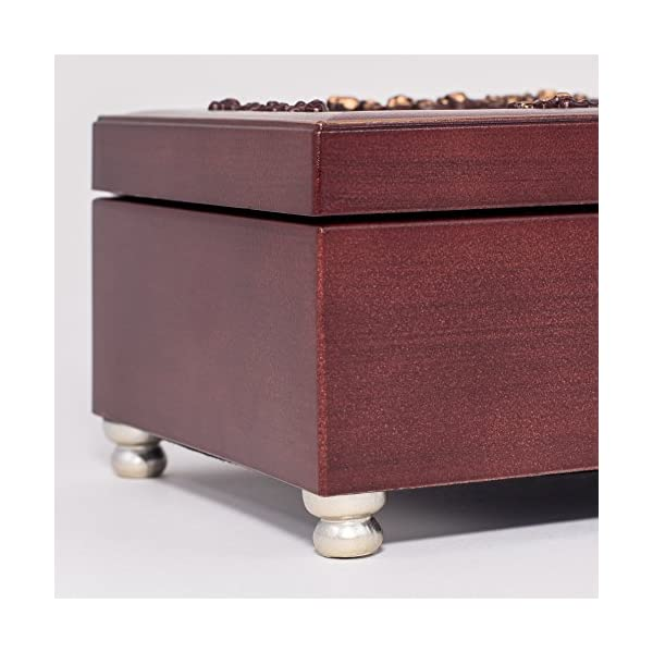 Pastor Thank You Burlwood Finish Jewelry Music Box Plays Canon in D