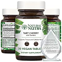 Natural Nutra Tart Cherry Extract with Turmeric Curcumin, Supplement for Inflammation Relief and Joint Health, 30 Vegan Tablets