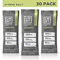 LMNT Recharge Electrolyte Hydration Powder | Formulated by Robb Wolf and Ketogains | Keto & Paleo | No Sugar, No Artificial Ingredients | Citrus Salt | 30 Stick Packs