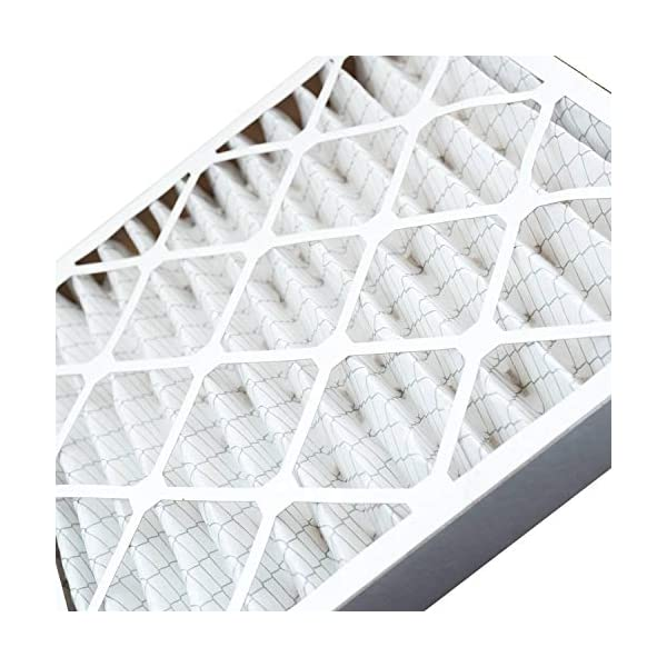 Filter King 17x21x1 Air Filters Actual Size Increases Air Quality Allergen Reduction MERV 8 HVAC Pleated AC Furnace Filters 6 Pack Protection Against Mold and Pollen