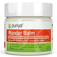 Puriya Tea Tree Oil Balm, Apply to Feet, Between Toes, Groin, Fast-Acting Relief for Itchy, Burning, Stinging Skin Developed in Warm Moist Conditions. Extra Strength Plant-Rich Formula for Athletes