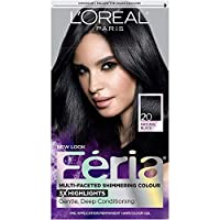L'Oreal Paris Feria Multi-Faceted Shimmering Permanent Hair Color, 20 Black Leather (Natural Black), Pack of 1, Hair Dye