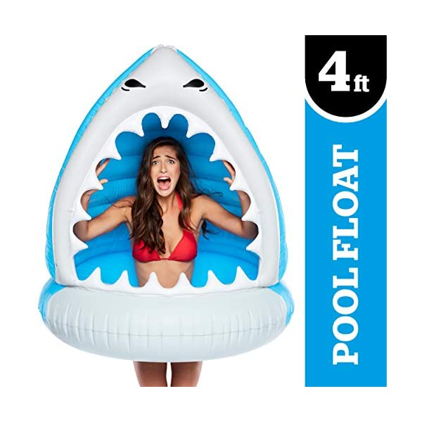 Funny Inflatable Vinyl Summer Pool or Beach Toy BigMouth Inc BMPF-0052 XL Shark Patch Kit Included Giant XL Pool Floats