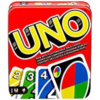 Mattel Games UNO: Family Card Game, with 112 Cards in a Sturdy Storage Tin, Travel-Friendly, Makes a Great Gift for 7 Year Olds and Up [Amazon Exclusive]