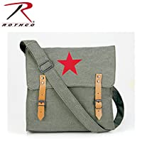 Rothco Canvas Classic Bag/Red Star, Olive Drab