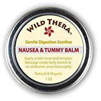 Wild Thera Anti Nausea Balm. Natural Pregnancy Nausea Relief. Herbal Ginger Balm for PMS Bloating and Motion Sickness. Can be Used with Anti Nausea Bracelet, Ginger lozenges and Nausea Candy.