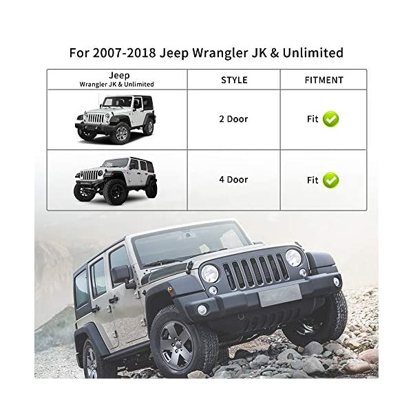 YITAMOTOR Steel Fender Flares Kit Compatible for 2007-2018 Jeep Wrangler Unlimited JK Off Road Style