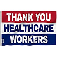Anley Fly Breeze 3x5 Foot Thank You Healthcare Workers Flag - Vivid Color and UV Fade Resistant - Medical Heroes Flags with Brass Grommets 3 X 5 Ft