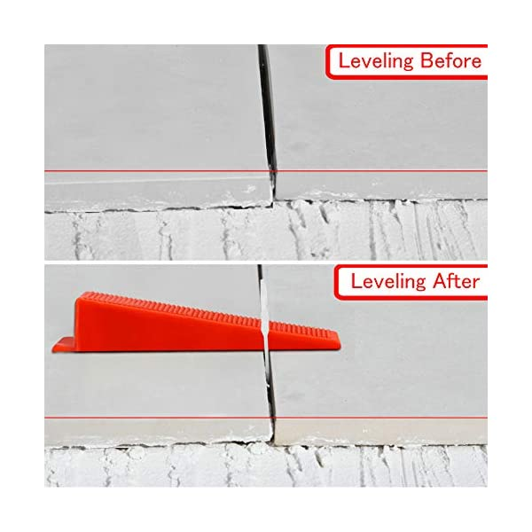 300PCS 1//8 Inch Leveler Spacers Clips /& Reusable 100PCS Wedges Premium Tile Leveling System with Push Pliers DIY Tile Tools Set for Floor /& Wall Construction by Tanek