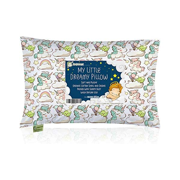 Design for Boys and Girls 100/% Cotton Kids Toddler Pillowcase 13x18 by Comfy Turtles Navy Blue Stars Hypoallergenic Cover for Wonderful Sleep and Dreams