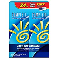 Complete Moisture Plus Multi Purpose Solution for Contact Lenses, 2 Pack of 12 Ounce