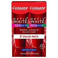 Colgate optic white renewal high impact white teeth whitening toothpaste - 3 ounce (2 pack)