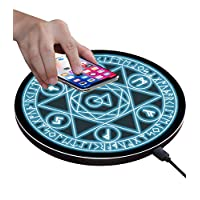Giosio Wireless Charger 10W Fast Cool Futuristic Reactor Style Charging Pad Stand Holder Compatible with iPhone X//XS//XR//XS Max//8//8 Plus,Galaxy S10,S9,S8,Note 9//8 /& Any Qi-Enabled Device No AC Adapter